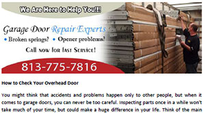 How to Check Your Overhead Door in Oldsmar - Click here to download